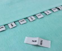 10 Größenlabel - Größenetiketten - 74/80 - Weiß