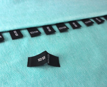 10 Größenlabel - Größenetiketten - 122/128 - Schwarz