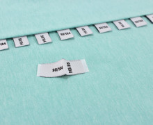 10 Größenlabel - Größenetiketten - 98/104 - Weiß