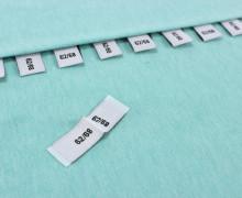 10 Größenlabel - Größenetiketten - 62/68 - Weiß