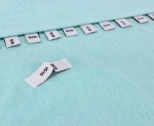 10 Größenlabel - Größenetiketten - 50/56 - Weiß