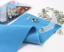 24 Ösen mit Scheiben - Eyelets - Silber - 8mm