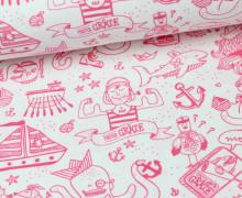 Jersey - Miss Gräte - Weiß/Pink - Käpt´n Gräte