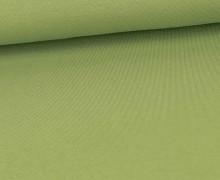 Viskose Jersey - Uni - Lindgrün - leicht geraut