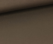 Viskose Jersey - Uni - Dunkelbraun - leicht geraut