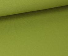 Viskose Jersey - Uni - Olivgrün - leicht geraut
