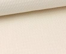 Waffel Piqué - Baumwolle - Eierschale (Mengeneinheit: 0,5m).