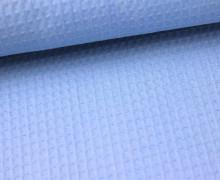 Waffel Piqué - Baumwolle - Hellblau (Mengeneinheit: 0,5m).