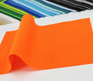 1mm Filzplatte - 20cm x 30cm - Orange