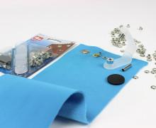 50 Ösen mit Scheiben - Eyelets - Silber - 4mm.