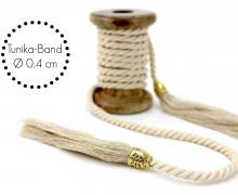 Kordel mit Tassel - Tunika Band - Beige - Schmal
