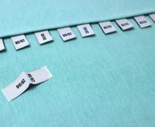 10 Größenlabel - Größenetiketten - 86/92 - Weiß