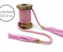 Kordel mit Tassel - Tunika Band - Flieder - Schmal
