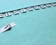 10 Größenlabel - Größenetiketten - 110/116 - Weiß