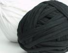1 Knäuel Häkelband - Jerseyband - Weiß