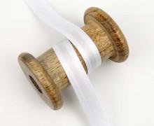 1 m Schrägband – Satinoptik – Uni – 15mm – Weiß
