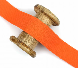 1m Gurtband - Uni - Baumwolle - 30mm - Orange