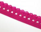3m elastische Spitze - 15mm - Dunkelpink