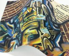 A4 Design Bügelflex - Bügelfolie - Graffiti Look (Mengeneinheit: 1piece).