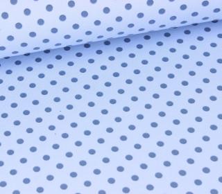 Jersey - Punkte - Dots - Hellblau/Taubenblau