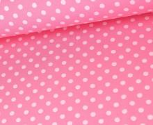 Jersey - Punkte - Dots - Dunkelrosa/Hellrosa