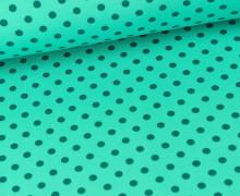 Jersey - Punkte - Dots - Türkis/Petrol