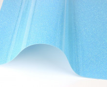 A4 ExtraBling-Bügelfolie- Glitzereffekt - Neonblau