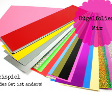 Bügelfolien-Mix - Flexfolien-Set - Bunt