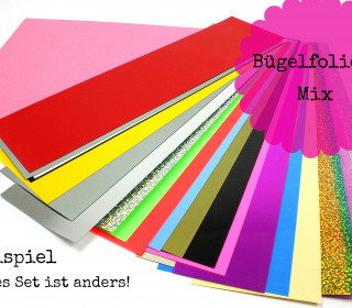 Bügelfolien-Mix - Flexfolien-Set - Bunt (Mengeneinheit: 1piece).