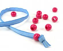 10 Kunststoffperlen - Durchzug 11x14mm - Pink