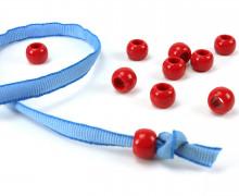 10 Kunststoffperlen - Durchzug 11x14mm - Rot
