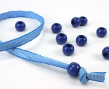 10 Kunststoffperlen - Durchzug 11x14mm - Blau