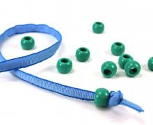 10 Kunststoffperlen - Durchzug 11x14mm - Grün