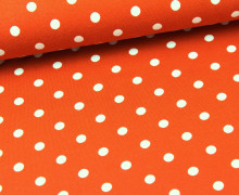 Jersey - Punkte - Dots - Dunkelorange/Weiß