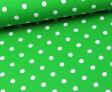 Jersey - Punkte - Dots - Grün/Weiß