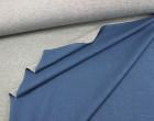 Sweat - Double Face - Grau meliert/Blau