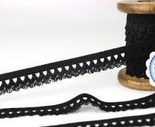 3m elastische Spitze - 15mm - Schwarz
