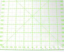 Patchworklineal 16cm x 60cm – Grün – Quiltlineal.