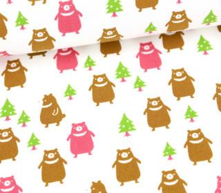 Canvas - Petit Bear - KOKKA - Pink/Weiß