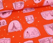 Stoff - Weihnachten - Alexia M. Abegg - Orange