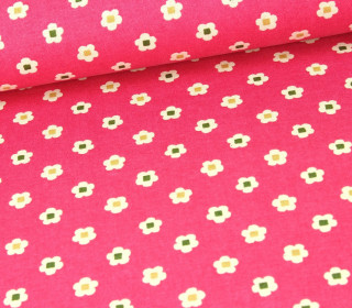 Stoff - Blumenmuster - Cosmo - Pink