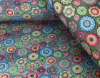 Jersey - CrochetLove - Blau - regenbogenbuntes