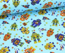 KOKKA - Roboter - feste Baumwolle - Blau