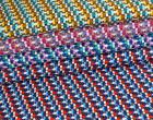 Blusenstoff - Grafisches Muster - Fächer - Blau