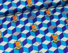 Stoff - Echino - Fuchs - Dkl.blau - Kokka