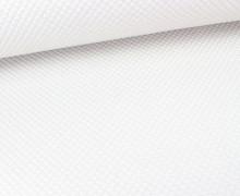Fashionstoff - Stepp - Rauten - Weiß