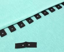 10 Größenlabel - Größenetiketten - M - Schwarz