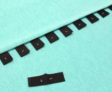 10 Größenlabel - Größenetiketten - L - Schwarz