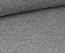 Glattes Bündchen - Schlauch - Hellgrau Meliert