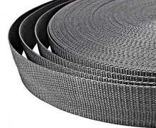 1 Meter Gurtband - Graphitgrau (319) - 40mm (Mengeneinheit: 1m).